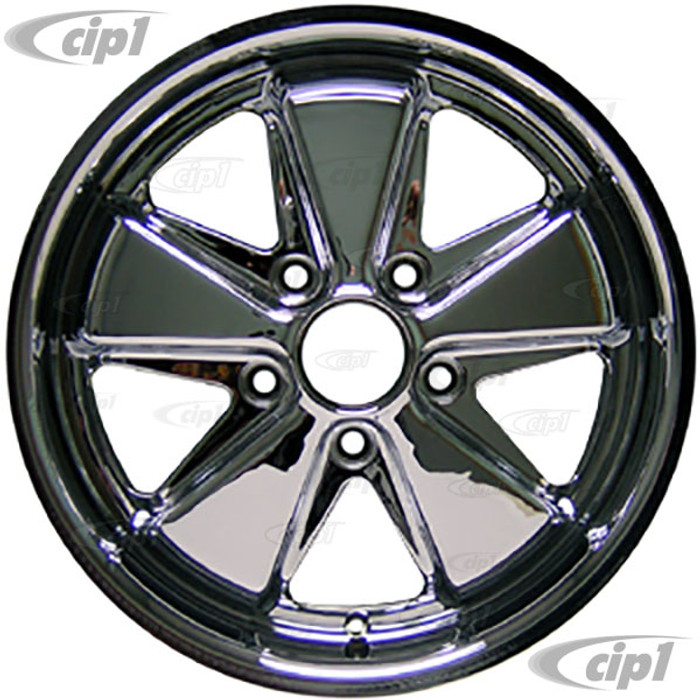 C32-FU172C - 911 STYLE 5 SPOKE ALUMINUM WHEEL - FULLY CHROMED - 7 INCH WIDE X 17 INCH DIA.(5.5 IN. BACKSPACE/ET40) - 5X130MM BOLT PATTERN - CENTER CAP AND HARDWARE SOLD SEPARATELY - SOLD EACH