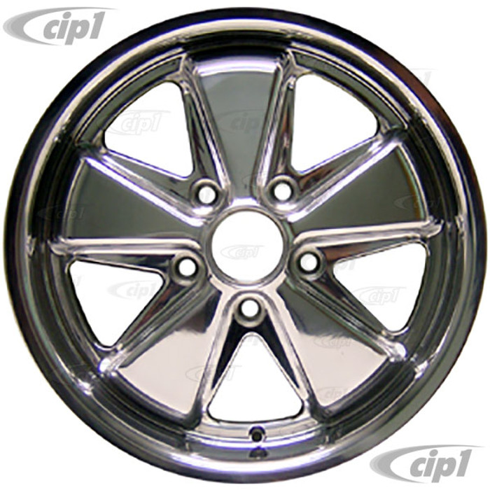 C32-FU172P - 911 STYLE 5 SPOKE ALUMINUM WHEEL - FULLY POLISHED - 7 INCH WIDE X 17 INCH DIA.(5.5 IN. BACKSPACE/ET40) - 5X130MM BOLT PATTERN - CENTER CAP AND HARDWARE SOLD SEPARATELY - SOLD EACH
