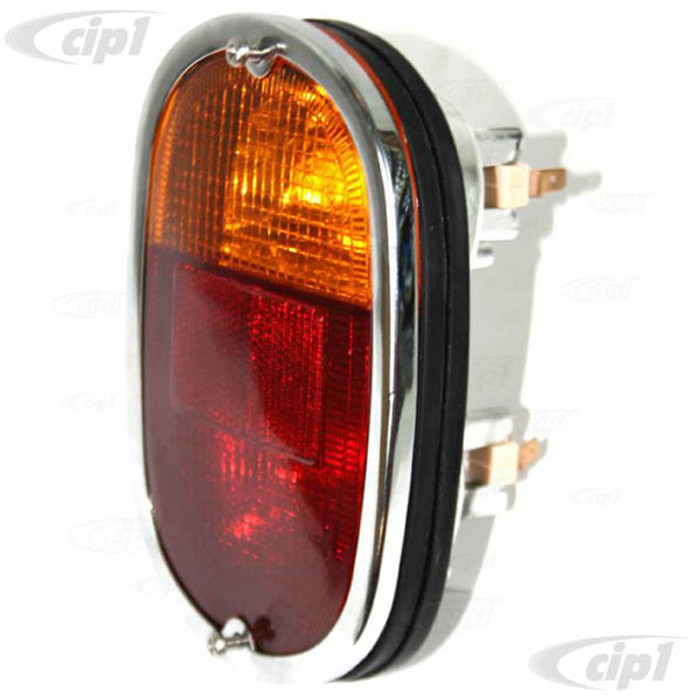 C33-S00619 - (211945241AE - 211-945-241AE) - GERMAN QUALITY FROM C&C U.K. - REAR COMPLETE TAILLIGHT ASSEMBLY - COMPLETE WITH REPRO LENSE AND SEAL - BUS 62-7/71 - SOLD EACH