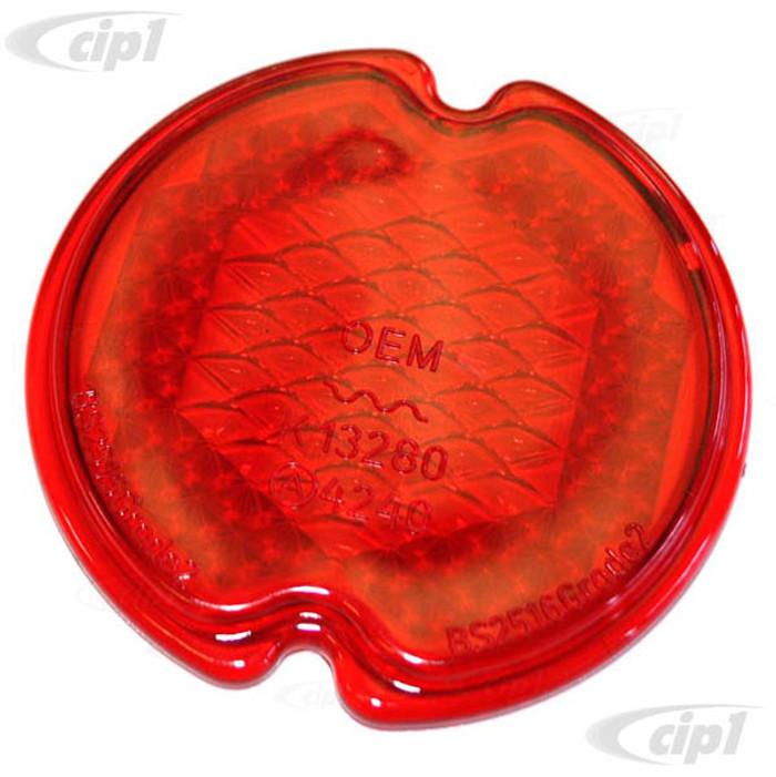 C33-S03062 - (211945241A - 211-945-241A) - GERMAN QUALITY FROM C&C U.K. - ALL RED REAR LIGHT LENS (PLASTIC) - BUS 58-61 - SOLD EACH