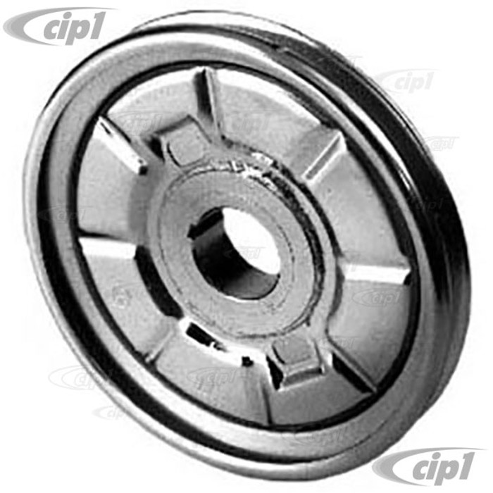 ACC-C10-5416 - CHROME OEM STYLE CRANK PULLEY - BEETLE 66-79 / GHIA 66-74 / BUS 63-71 / THING 73-74