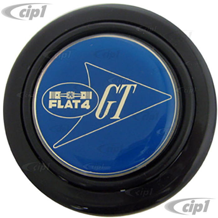 C38-I-184-GT - FLAT-4 BLUE GT HORN BUTTON - ONLY FITS OUR FLAT4 GT HUB KIT (DOES NOT FIT ANY STOCK STEERING WHEEL)