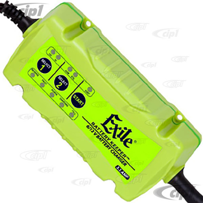 C45-EX-1 – EXILE BATTERY KEEPER – 6/12 VOLT CHARGER WITH LED BATTERY MONITOR