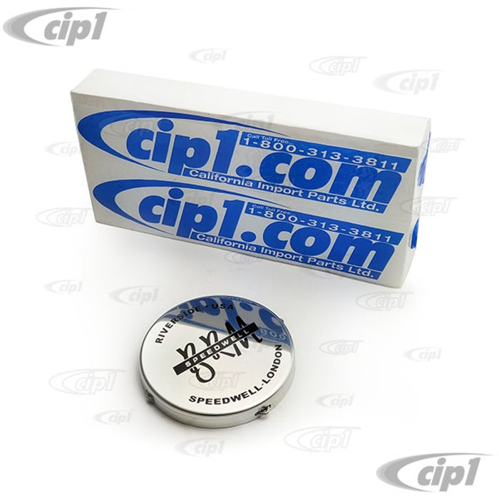 ACC-C10-6605-C - (EMPI 9705) REPLACEMENT BRM CENTER CAP - BRIGHT SHINNY FINISH - FLAT STYLE WITH SPRING CLIP - FITS 80MM / 3.15 INCH HOLE - FOR ALL BRM REPLICA WHEEL - SOLD EACH