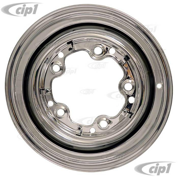 ACC-C10-6621-SMCR - CHROME SMOOTHIE 5X205MM BOLT STEEL WHEEL - 15X5-1/2  (3-3/4 INCH BACK SPACING) HUBCAP SOLD SEPARATELY (1 INCH WIDER THEN STOCK CHECK CLEARANCE BEFORE ORDERING) - SOLD EACH