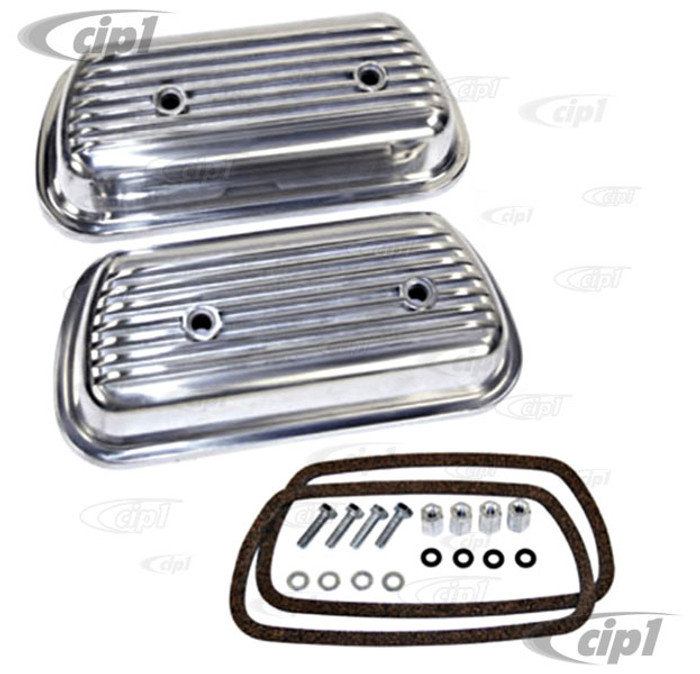 ACC-C10-5117 - BOLT ON ALUMINUM VALVE COVERS - 12-1600CC BEETLE STYLE ENGINES - HARDWARE & GASKETS INCLUDED