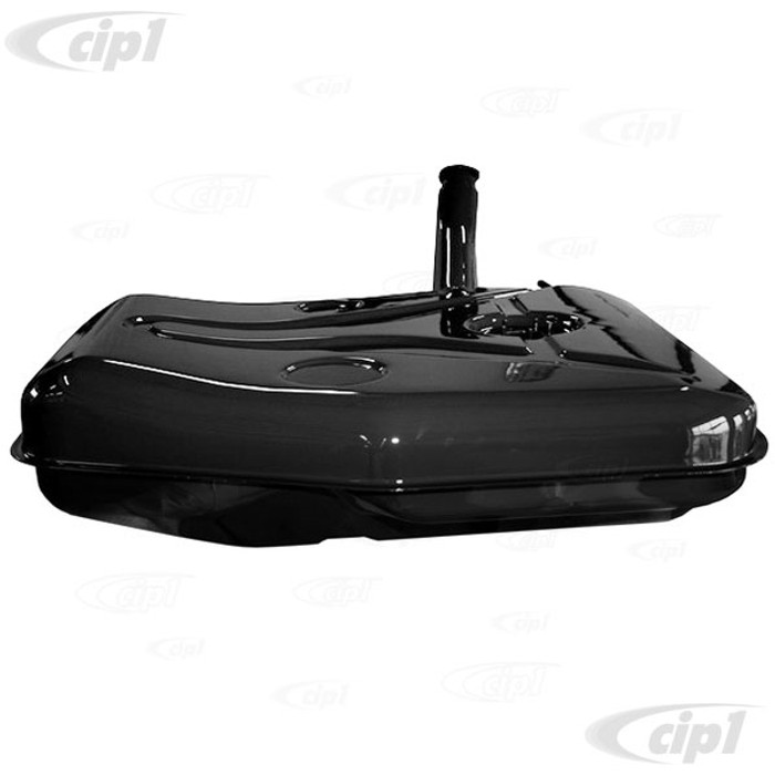 P-644-201-001-07 - (64420100107) - 52 LITRE FUEL/GAS TANK WITH SENDER FLANGE ON TOP - CORROSION RESISTANT ALUMINIZED STEEL - PAINTED SEMI-GLOSS BLACK - PORSCHE 356A/356B 62-65 - SOLD EACH