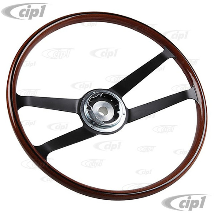 P-901-347-082-01 - 1645500400 - 420MM VDM REPRODUCTION - IMITATION WOODGRAIN STEERING WHEEL (WITHOUT HORN BUTTON OR MOUNTING HARDWARE) - PORSCHE 911/912 65-68 - WILL ALSO FIT UP TO 1972  - SOLD EACH