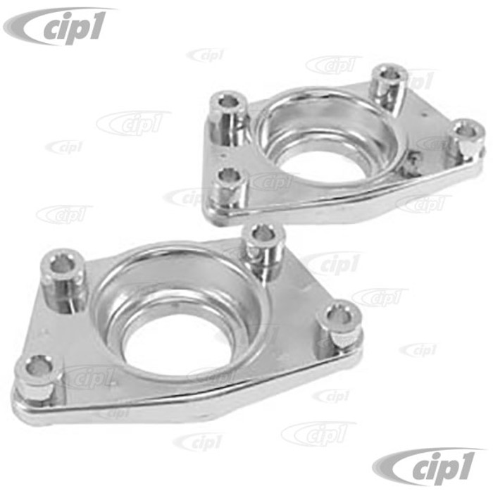 ACC-C10-4056 - CHROME CAPS FOR DUAL IRS SPRING PLATES - BEETLE 69-79 / GHIA 69-74 / TYPE-3 69-74 / THING 73-74 - SOLD PAIR