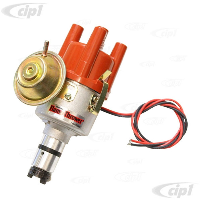 PER-D186504 - PERTRONIX VACUUM ADVANCE (SVDA) DISTRIBUTOR - COMPLETE WITH IGNITOR IGNITION MODULE INSTALLED - ALL BEETLE STYLE ENGINES