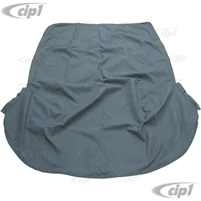 T22-1310-39 - CONVERTIBLE TOP CHARCOAL CANVAS BEETLE 50-57