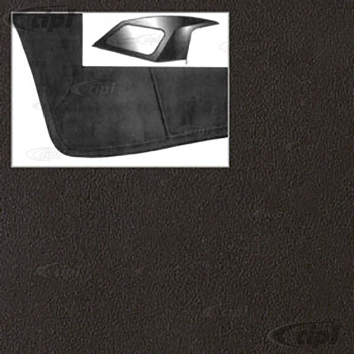 T22-4121-34 - RABBIT - CABRIOLET - 80-93 CONVERTIBLE TOP OUTER SKIN - BLACK HAARTZ CABRIOLET EURO GRAIN