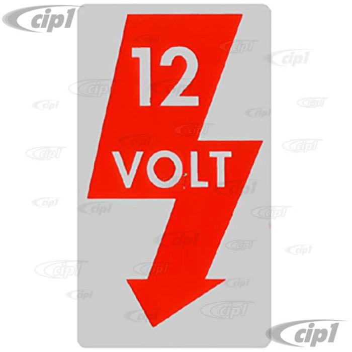 ACC-C10-9714 - 12 VOLT LIGHTNING BOLT STICKER FOR DOOR JAM - 1.5 X 2.5