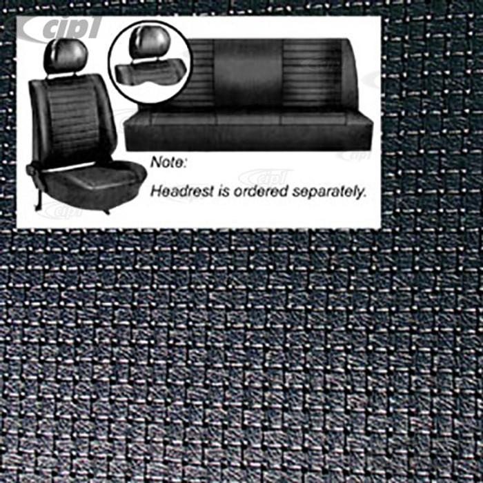 T43-1129-09 - 77-78 BEETLE SEDAN SEAT COVER SET -BLACK SQUARE WEAVE
