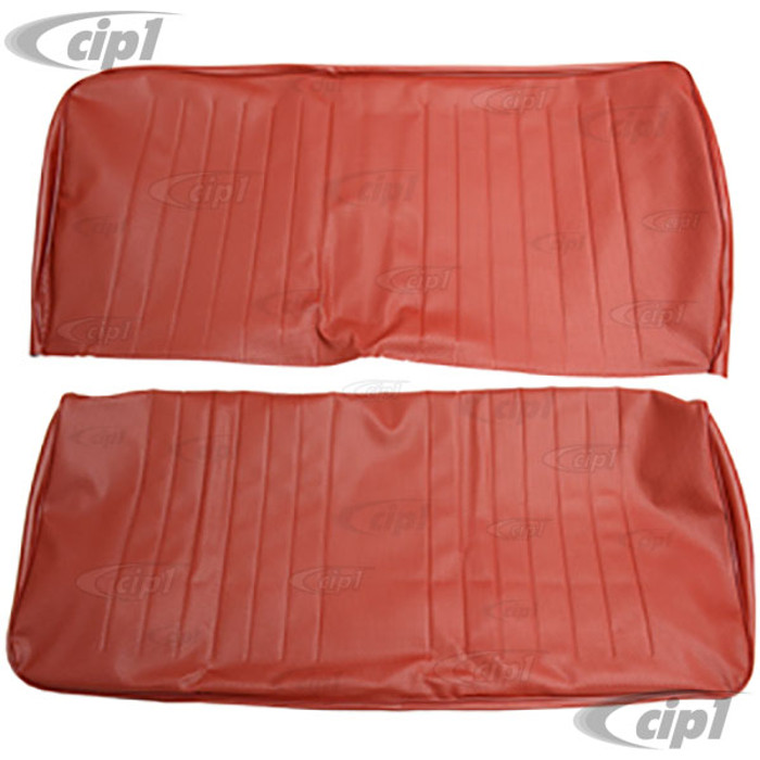T43-2120-07 - BUS 68-73 MIDDLE SEAT 3/4 WIDTH - RED BASKET WEAVE