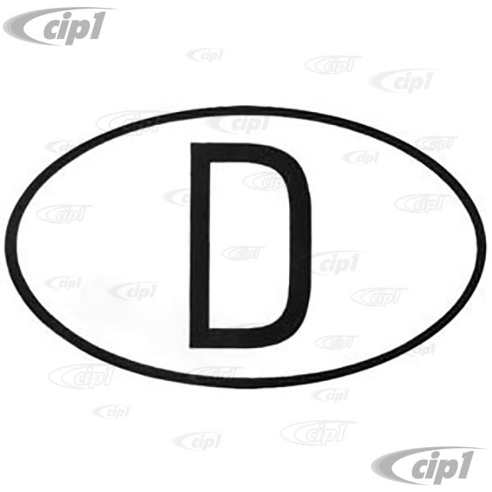 ACC-C10-9740 - D (FOR DEUTSCHLAND) DECAL/STICKER - 4 INCH X 6 INCH - SOLD EACH