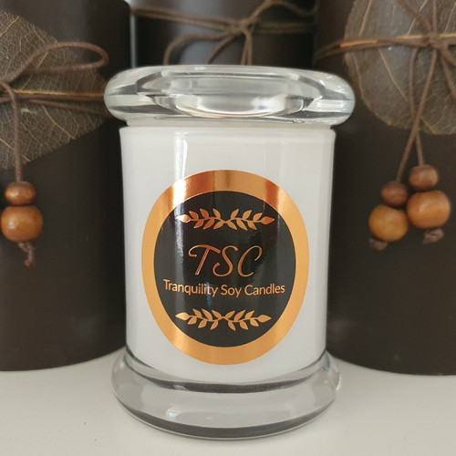 Danube Small White Jar Candle - Scented