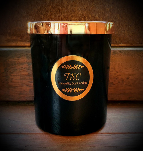 Oxford Large Black Tumbler Rose Gold Lid Scented