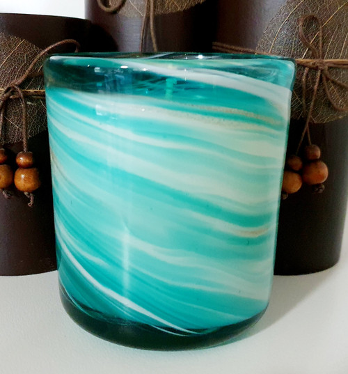 Vogue Small Mint Blue Swirl Scented