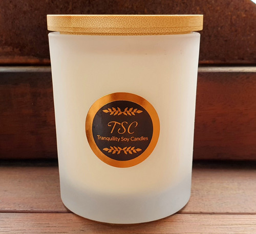 Oxford Large Frosted Tumbler Bamboo Lid Scented