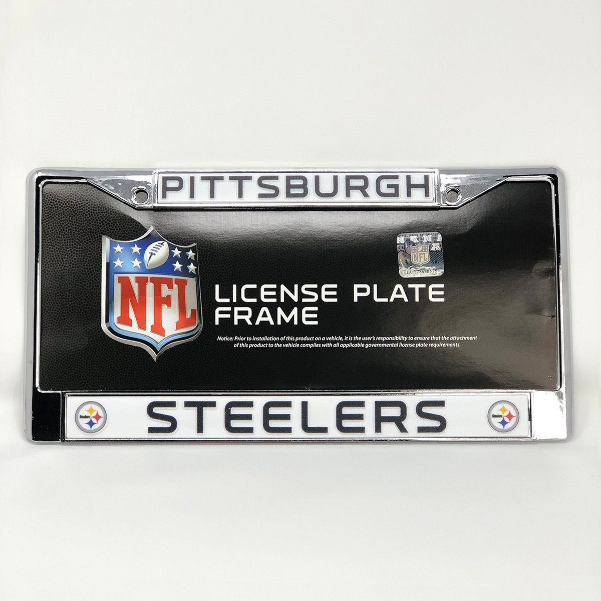 Chrome Steelers License Plate Frame