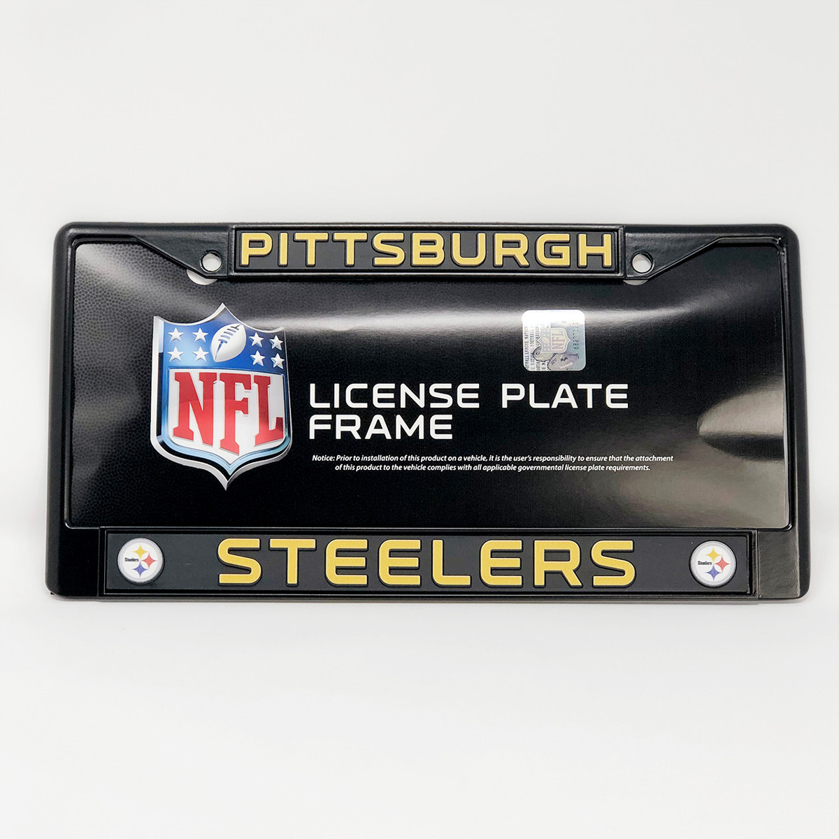 Black Chrome Steelers License Plate Frame