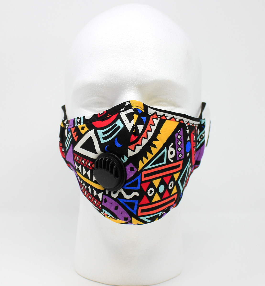 Vented Graphic Fashion Mask - African Tribal