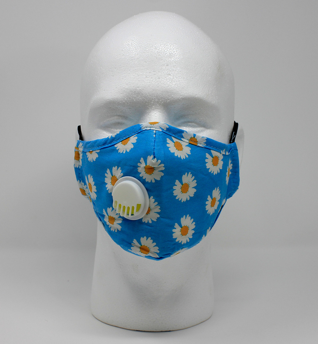 Vented Graphic Fashion Masks - Blue/Gold Daisy