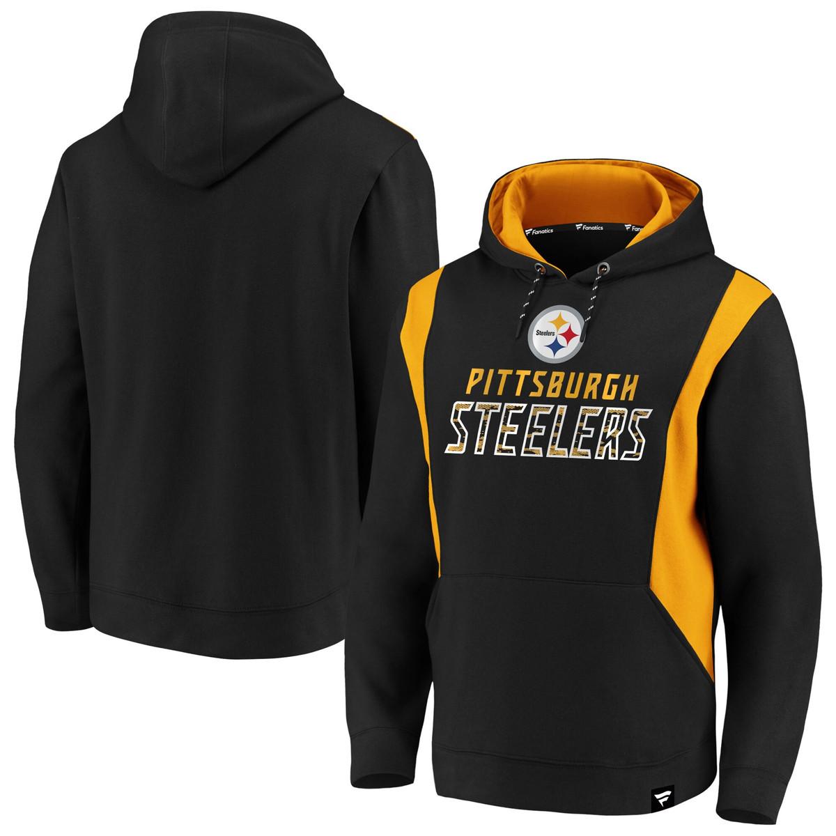 Pittsburgh Steelers NFL Pro Line Pullover Hoodie - Black