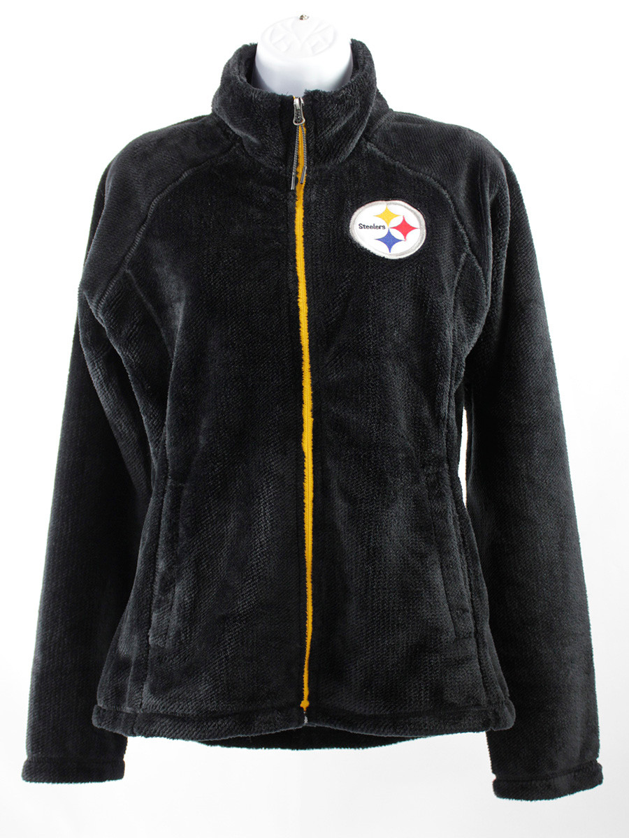 Women's Pittsburgh Steelers G-III 4 Black Field Goal Fleece Full-Zip Jacket
