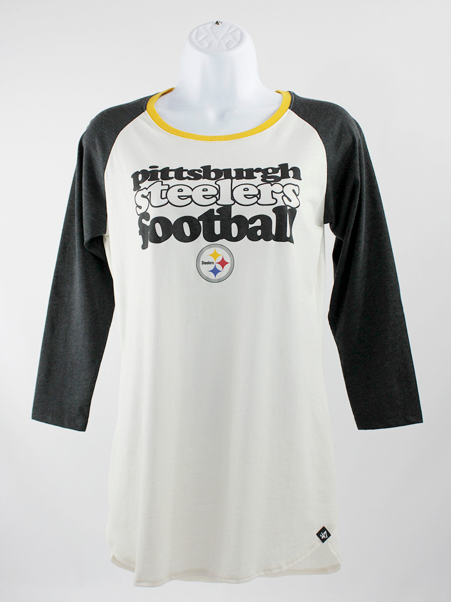 '47 Women's Pittsburgh Steelers  Raglan Shirt