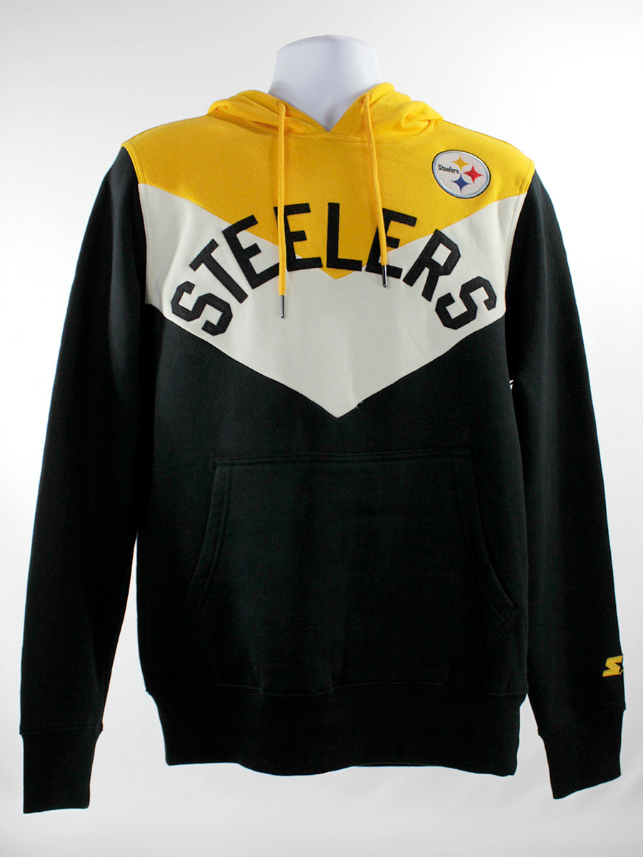 Pittsburgh Steelers Black Gold V Design Starter Hoodie