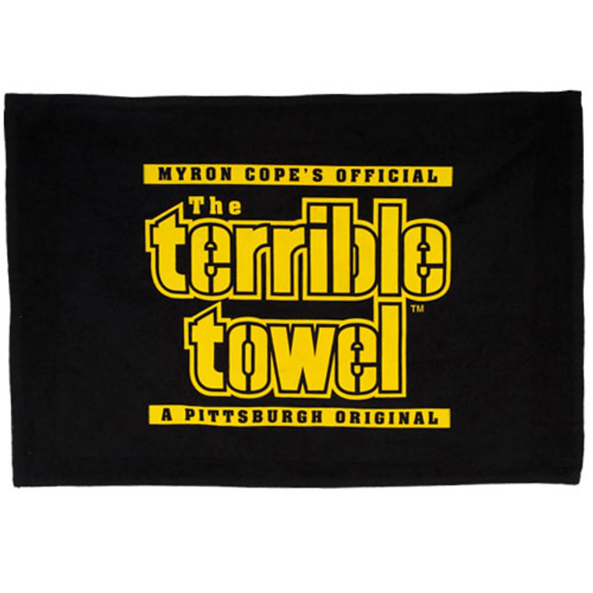 Myron Cope's Official  The Terrible Towel A Pittsburgh Original - Black