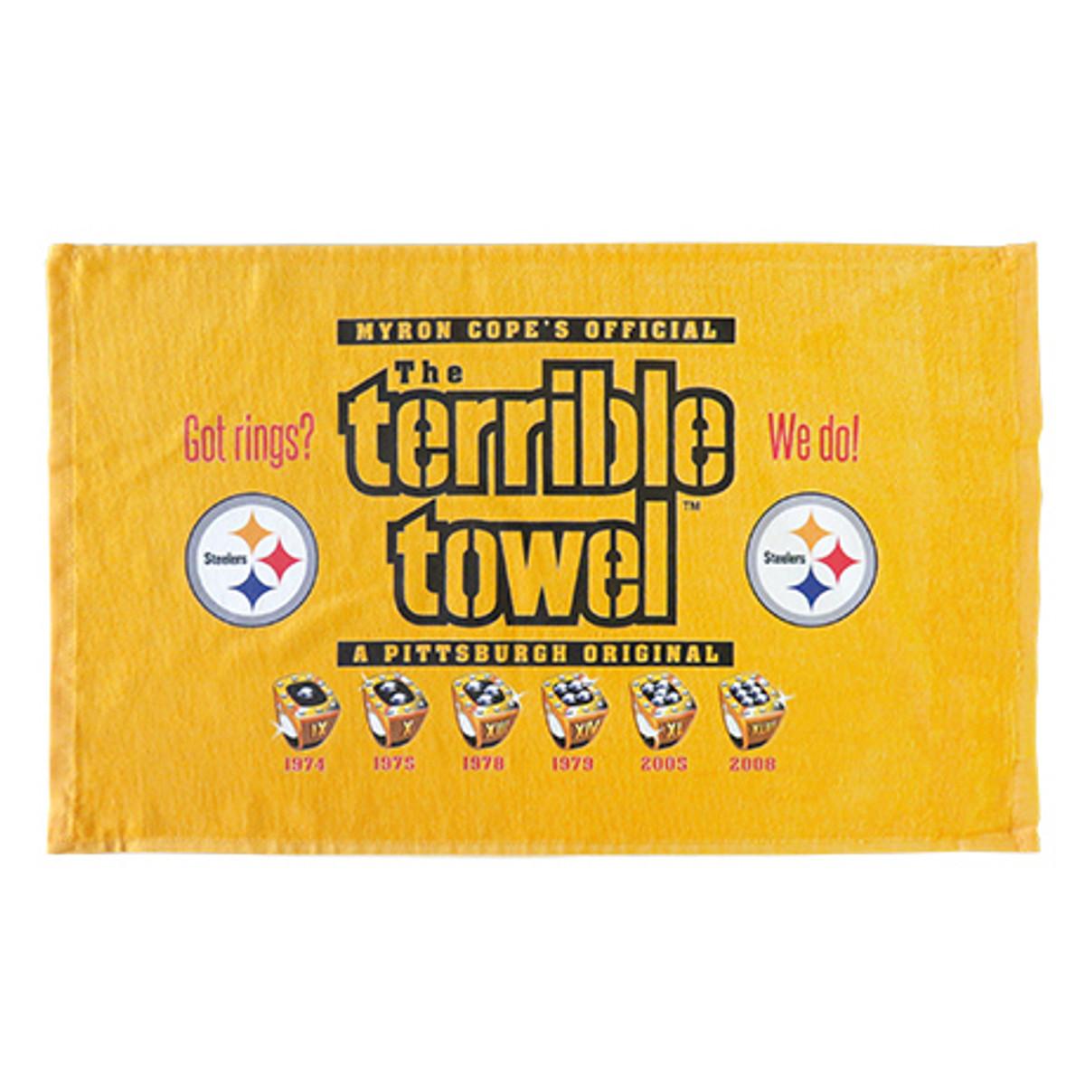 Myron Cope's Pittsburgh Steelers Terrible Towel - Got Rings