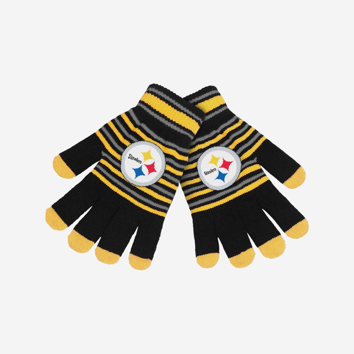 Pittsburgh Steelers Acrylic Stripe Gloves