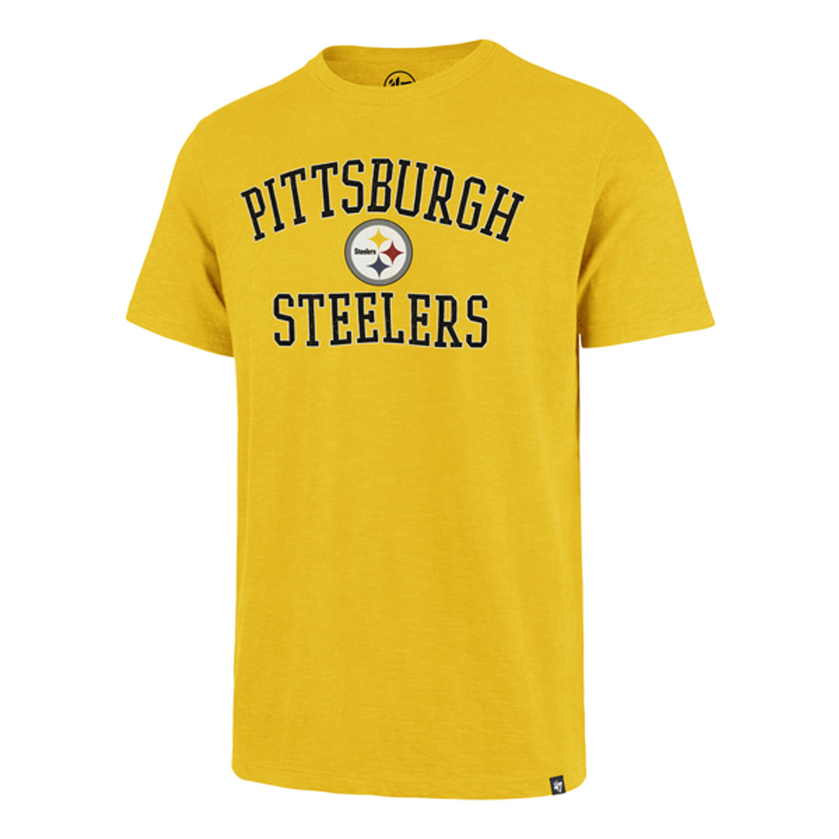 PITTSBURGH STEELERS GALLEY GOLD VICTORY ARCH SCRUM TEE