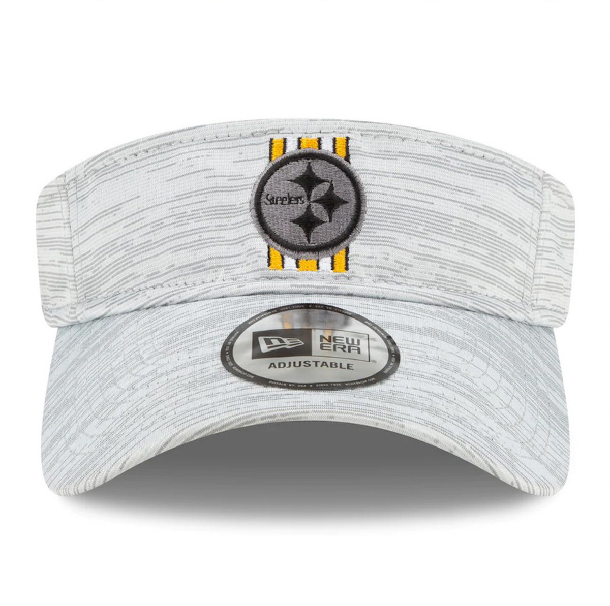 Pittsburgh Steelers New Era 2021 NFL Training Camp Official Visor - Gray