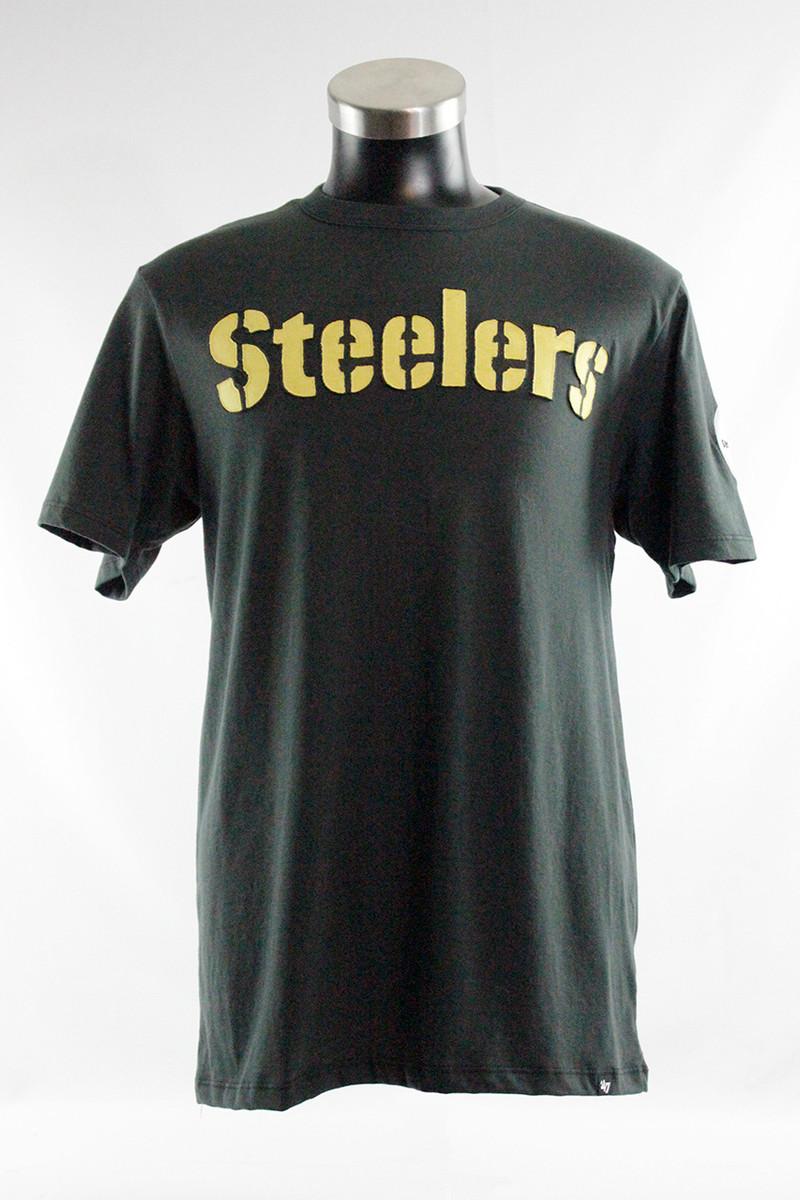 PITTSBURGH STEELERS '47 FRANKLIN FIELDHOUSE BLACK / GOLD TEE