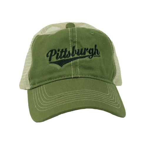 Retro Pittsburgh Mesh Cap - Green