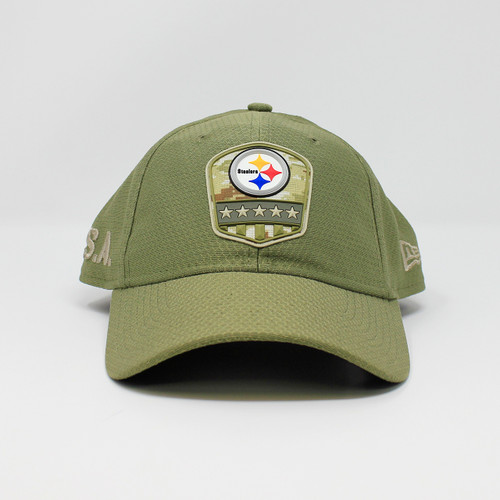 New Era 9Twenty USA Steelers Logo Military Green