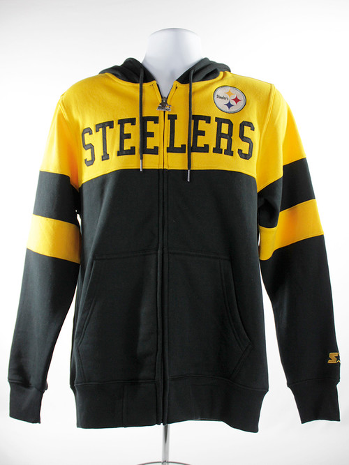 Pittsburgh Steelers Starter Winning Team Full-Zip Hoodie - Black/Gold