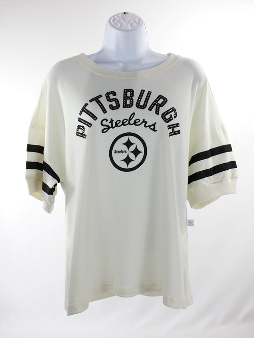 Women's Pittsburgh Steelers Cream Shirt