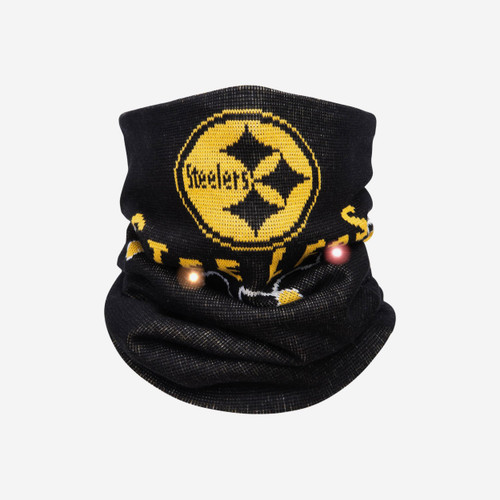 Pittsburgh Steelers Light Up Knit Gaiter Scarf FOCO