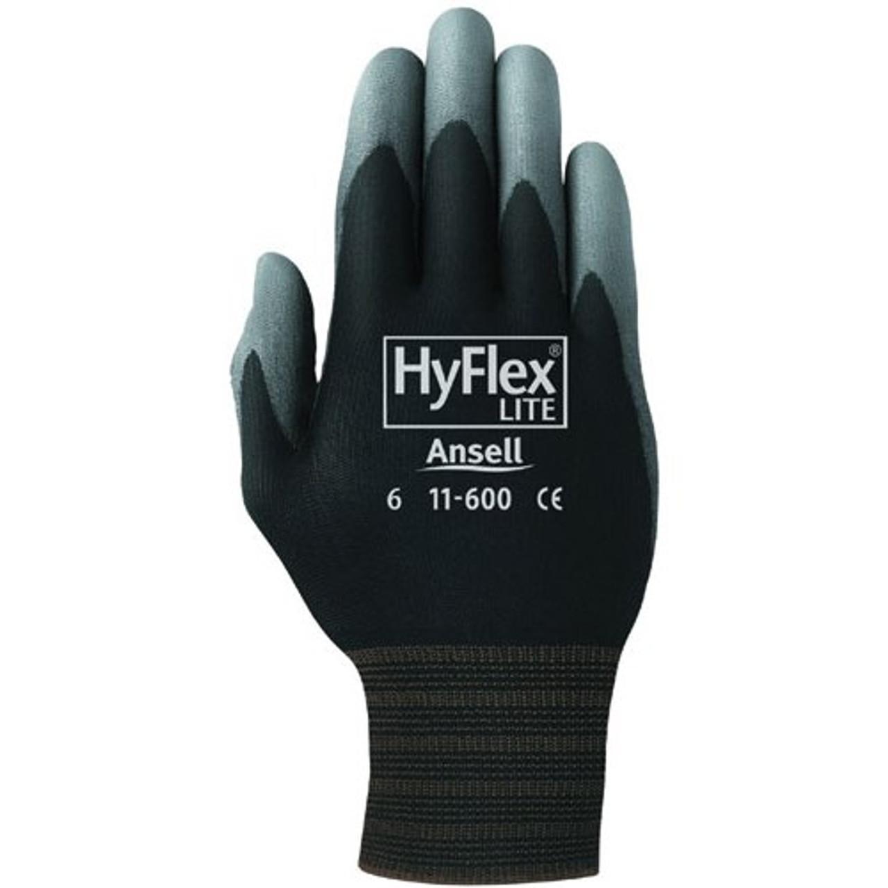 Hyflex Nitrile Dipped Gloves, Black