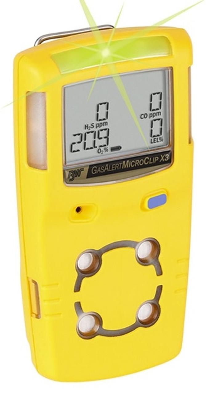 GasAlertMicroClip X3, 3 year warranty, 5 year expected life O2 sensor