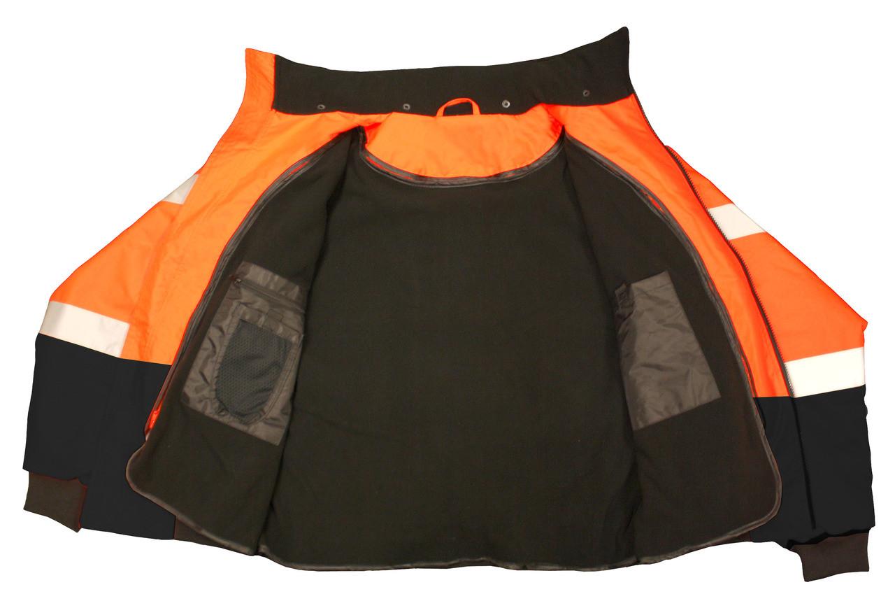 Class 3 Two-in-One High Visibility Bomber Safety Jacket - Hi-Viz Orange