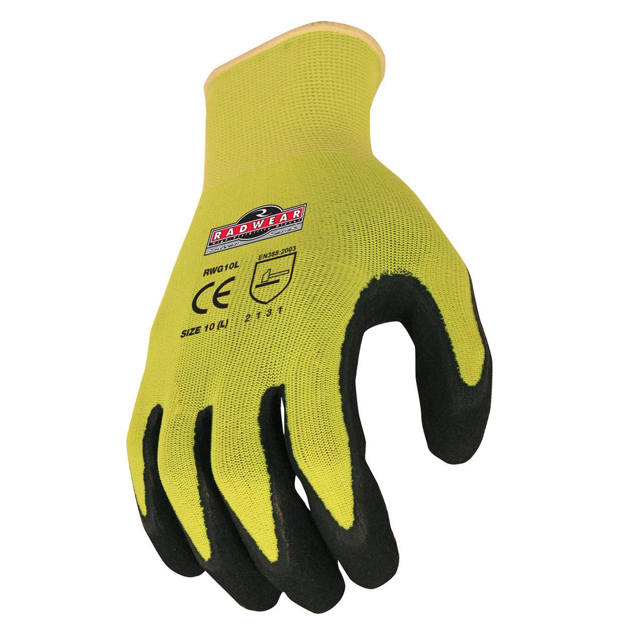 Radwear Silver Series Hi-Viz Knit Dip Glove