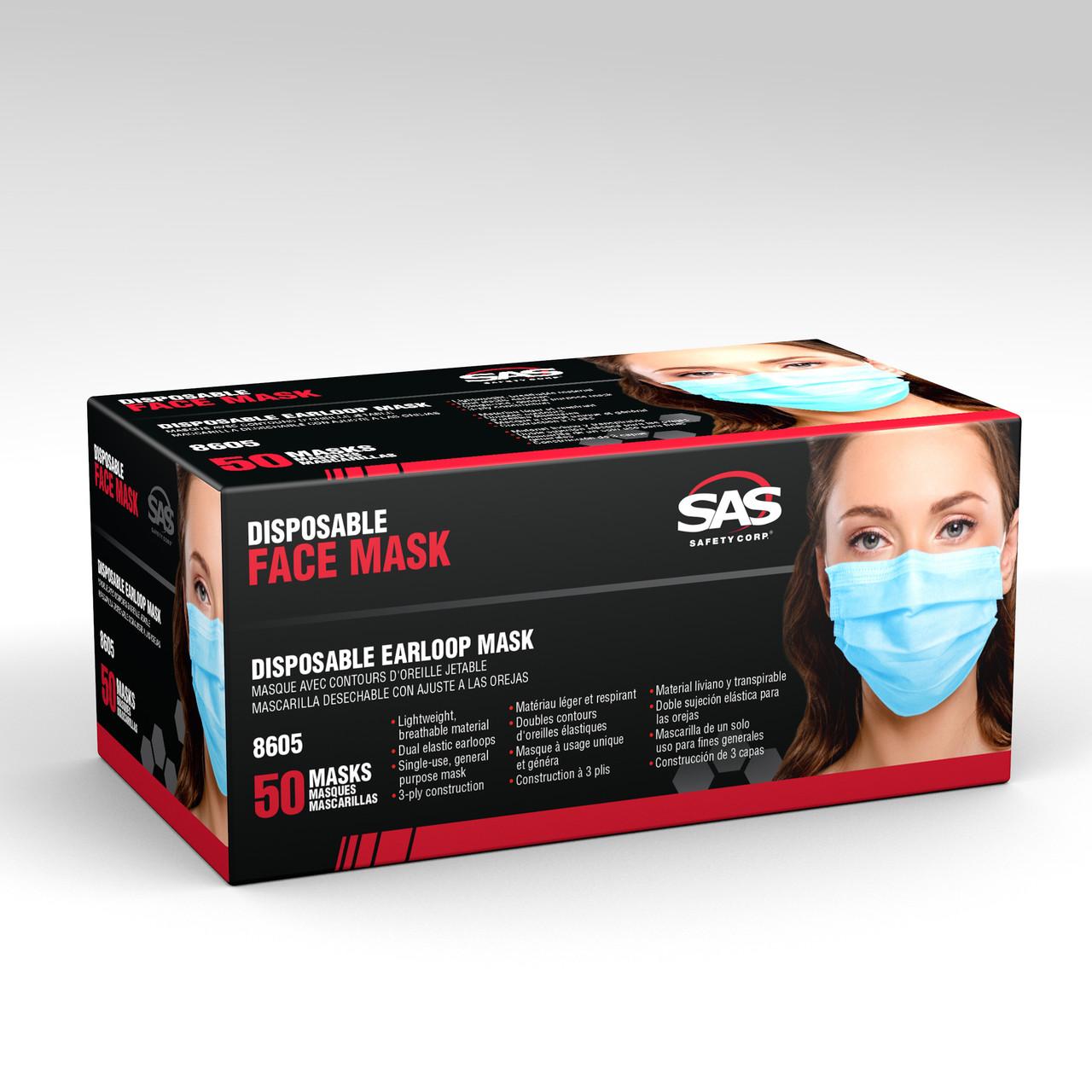 Blue Disposable Earloop Mask