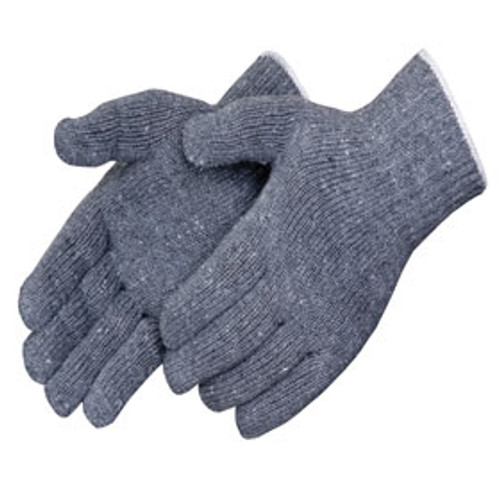 Gray Cotton/Polyester Gloves