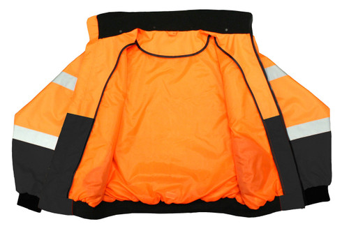Class 3 Two-in-One High Visibility Bomber Safety Jacket - Hi-Viz Orange